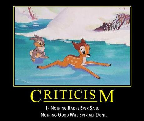 Constructive criticism and our kids