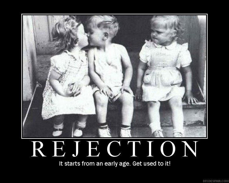Little kid facing rejection