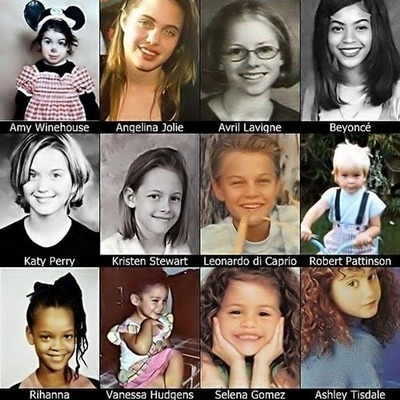 Photos of celebrities as kids