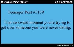 Teen awkward moment