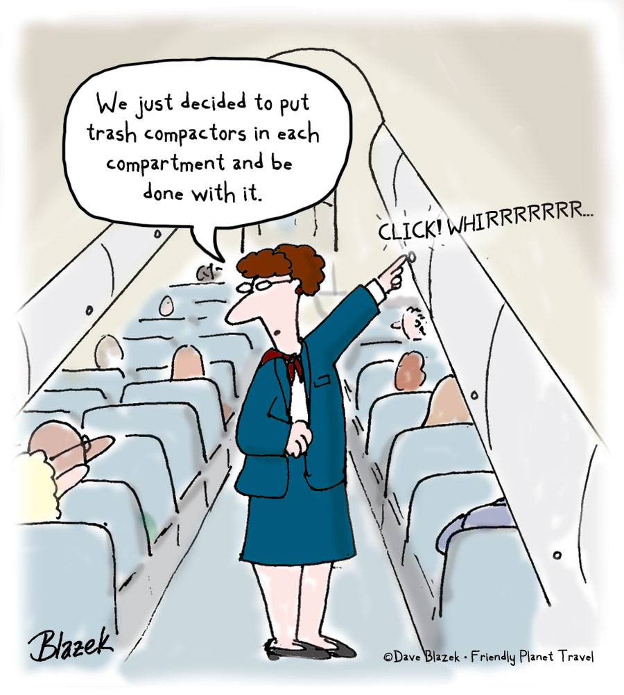 Airplane travel cartoon