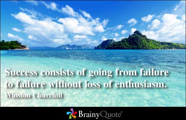 Winston Churchill inspirational quote about success