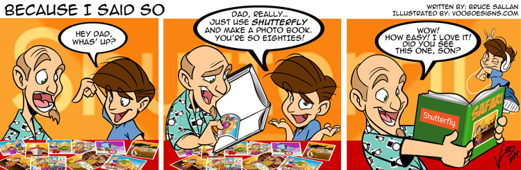 Comic strip about dads