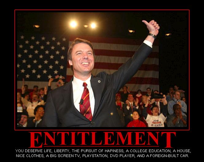 Political cartoon about entitlement