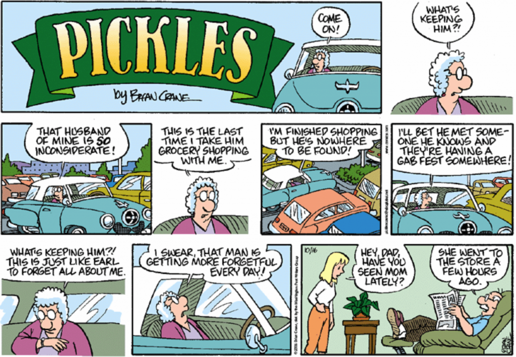 Pickles on getting older