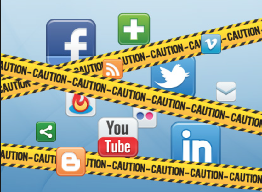 Caution - Social Media Danger