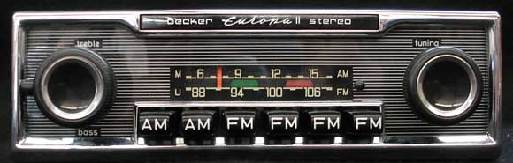 AM/FM Becker push-button car radio