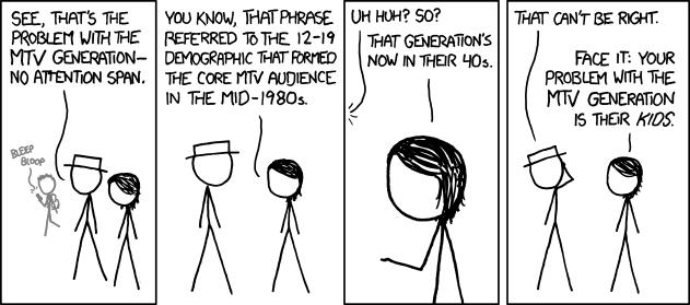 Comic strip about MTV