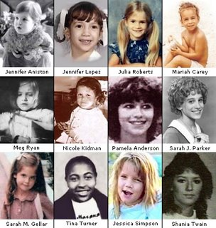 Famous people when they were kids