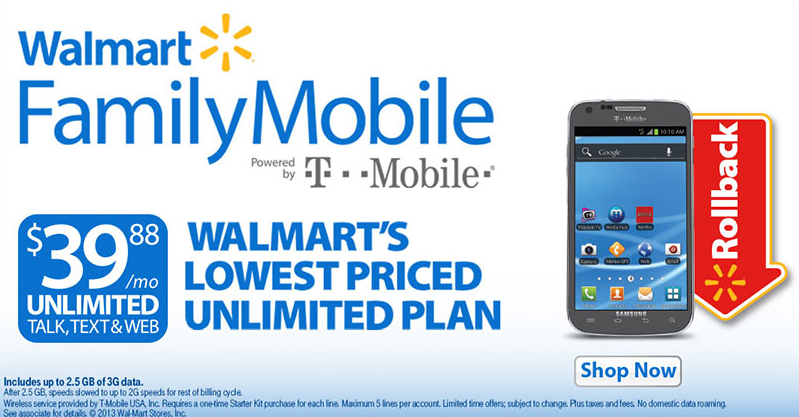 Value at Walmart Family Mobile