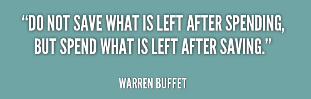 Quote about money by Warren Buffet