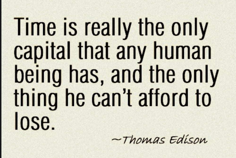 Time quote from Thomas Edison